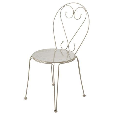 chaise de jardin maison du monde chaise de jardin en métal taupe maisons du monde