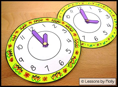 lessons  molly analog paper clock  kids