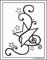 Coloring Star Fancy Pages Musical Stars Printable Pdf Colorwithfuzzy sketch template