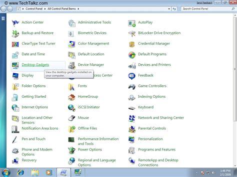 gadgets bureau windows 7 configure desktop gadgets in windows 7 windows 7
