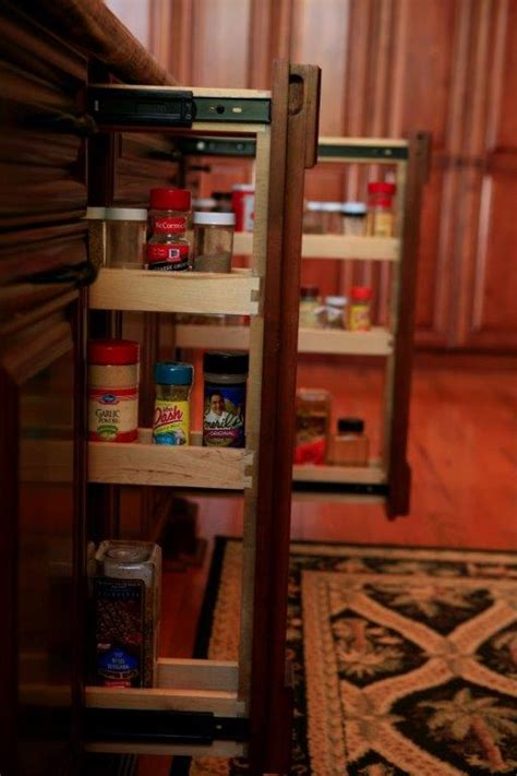 pull  spice rack  kitchen cabinets cabinet