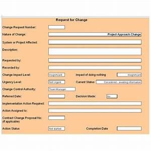 Free change control template download customize for for Documents for change management