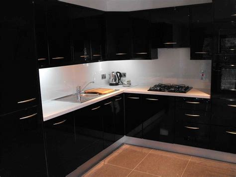 Black High Gloss Kitchen Cabinets  Deductourcom