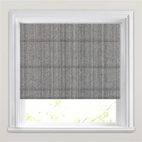 shimmering metallic silver slate grey roman blind