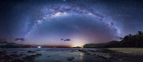 The Milky Way Over Coral Sea This Image Was Taken