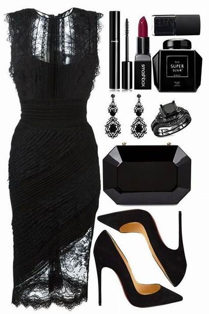 Outfits Polyvore Date Lace Night Outfit Evening