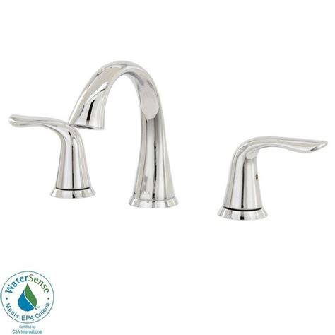 delta bathroom lahara 8 in widespread 2 handle high arc