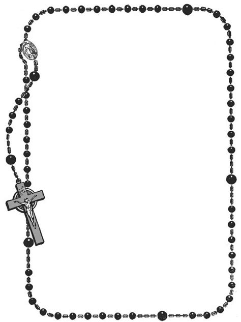 Rosary Clipart Coloring Book Rosary Frame Clipart Best Clipart Best