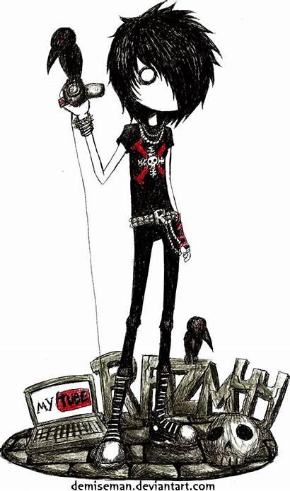 Emo Drawings Goth Dark Demiseman Drawing Anime
