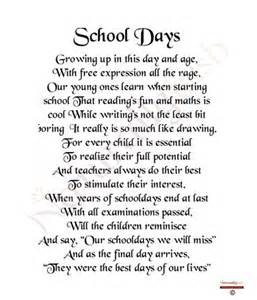 funny rhyming poems about school