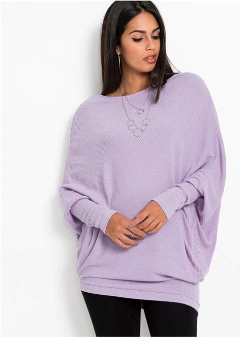 oversized trui lila dames bodyflirt bonprix flbe