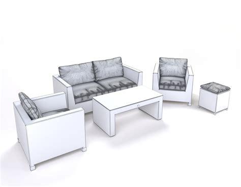 garden furniture synthetic rattan set ato venedig 3d