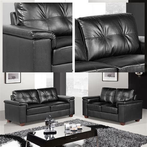 Settee Suites by Black Leather 3 Seater 2 Seater Sofas Two