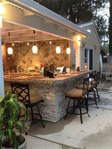 best 25 outdoor kitchen patio ideas on pinterest With outdoor kitchen and bar designs