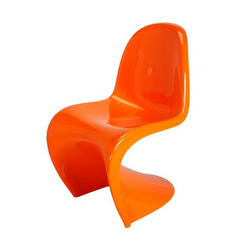 panton chair orange formdecor