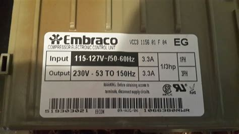 buy  compressor electronic control unit  model pfssnjw ge pfssnjw support
