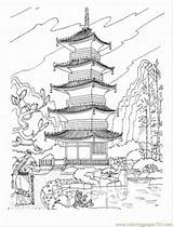 Pagoda Buddhist Coloring Temple Japan Japanese Drawing Pages Chinese Printable Tattoo Temples Sightseeing Colouring Architecture Drawings Castle China Coloringpages101 Visit sketch template