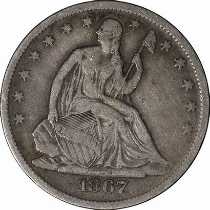 Half Dollar 1867 Seated Executive Coin Deals