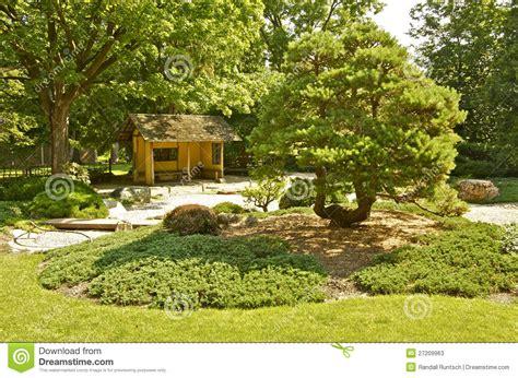 japanese garden  carleton college stock image image