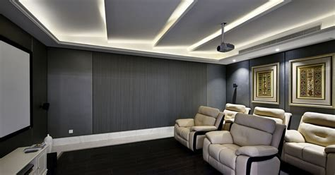 Modern minimalist style home theater renovation Interior