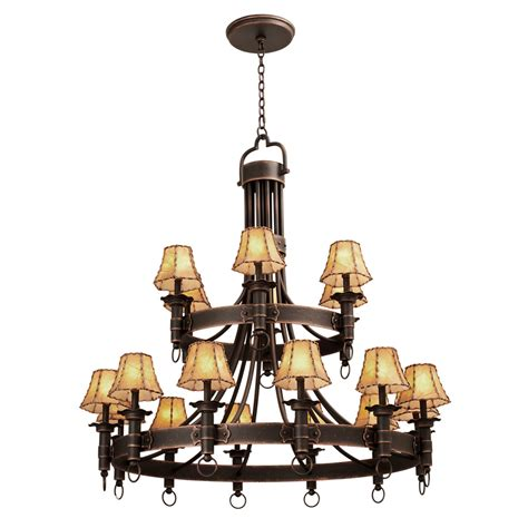 Two Tier Chandelier by Rustic Chandeliers Americana Two Tier Chandelier With 18