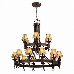 Rustic, Chandeliers, Americana, Two, Tier, Chandelier, With, 18, Lights