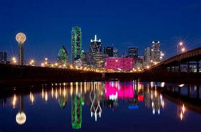 Skyline Dallas Downtown Wallpapers Texas Staycation Night