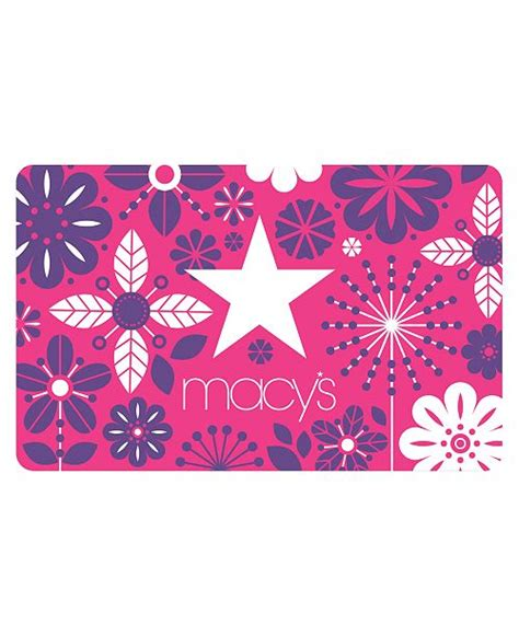 Whether you're shopping for your family, friends or significant other, a macy's gift card is always appreciated. Macy's Macy's Floral E-Gift Card & Reviews - Gift Cards - Macy's