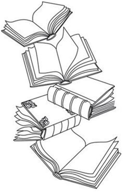 stack of books clip art | of Books Clip Art Image - black and white outline of a stack of books