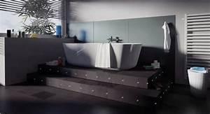 eclairer votre salle de bain avec des led With carrelage adhesif salle de bain avec eclairage led pour sous sol