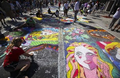 street painting event turns lake worth  outdoor art
