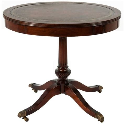 oval table with end extensions vintage oval leather top side table for at 1stdibs 7252