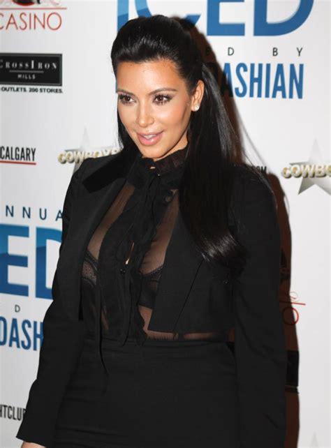 Kim K Wears Skin Tight Outfit To Canada Nightclub Event