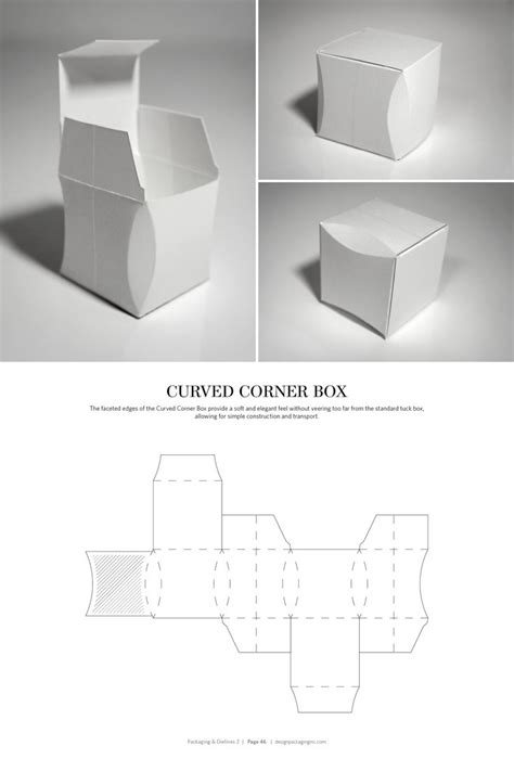 Curved Box Template by 1000 Images About Packaging Dielines On