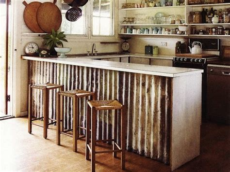 metal kitchen islands corrugated metal it isn 39 t just for barns knick of