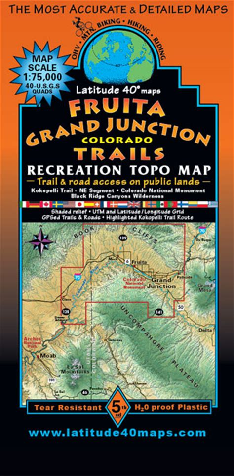 fruita grand junction trails recreation topo map