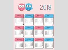 Calendarios 2019 en imágenes para descargar e imprimir