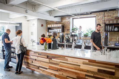 industrial bar table and chairs creeds coffee bar blogto toronto