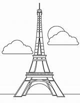 Eiffel Tower Coloring Paris French Drawing Icon Printable Seurat Easy Skyscraper Magnificent Template Sheet France Sheets Outline Sky Getdrawings Clip sketch template