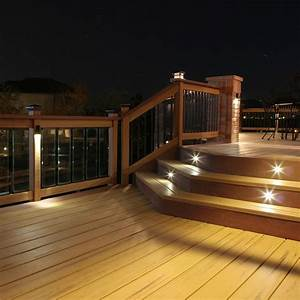 This outdoor led recessed stair light kit allows exterior