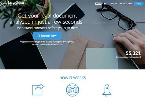 lawgeex  app  analyzes legal documents