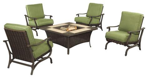 pembrey 5 patio pit set with moss cushions