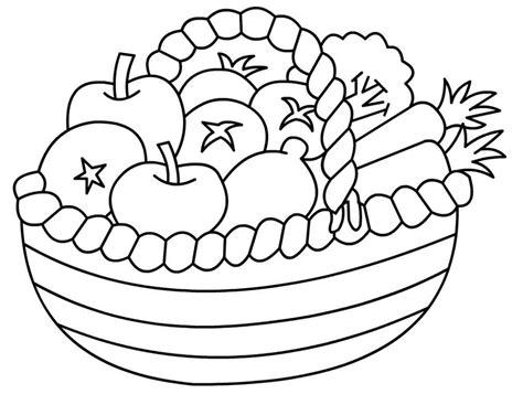 mewarnai gambar buah dalam keranjang barang untuk dibeli