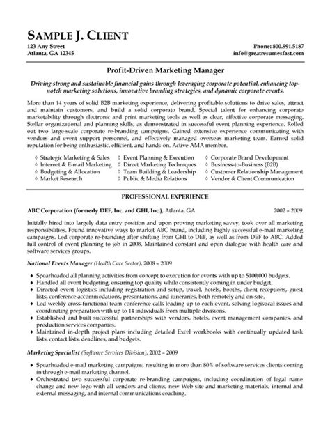 Market Manager Resume by Marketing Manager Resume