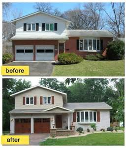 Photos And Inspiration Split Level Curb Appeal by As Seen On Hgtv S Quot Curb Appeal Quot This 50s Split Level Ranch