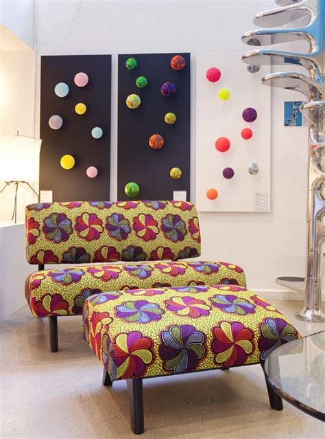 canapé forme u décoration en wax waxindeco linge de maison en wax