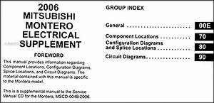 2006 Mitsubishi Montero Wiring Diagram Manual Original