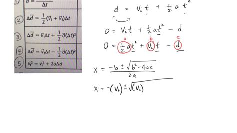 Solve Displacement Formula For T Youtube