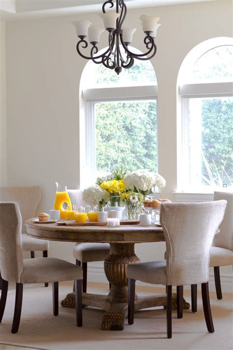 round kitchen table sets Dining Room Transitional with