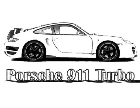 Porsche 911 Coloring Pages  Only Coloring Pages